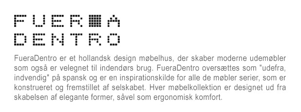 FUERADENTRO - Outdoor furniture